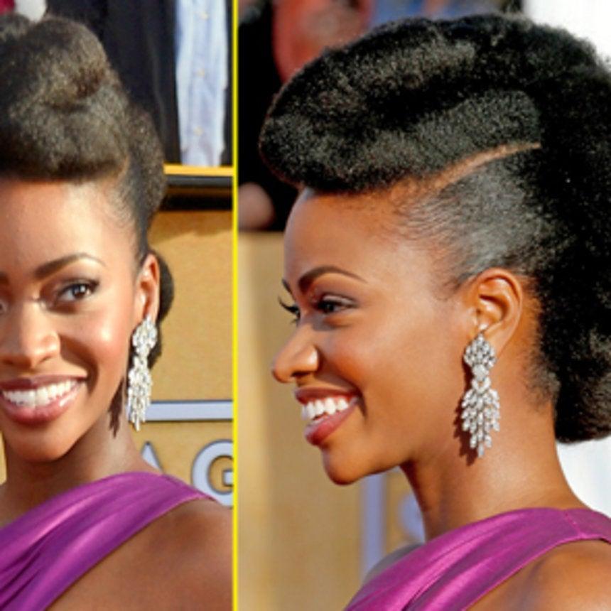 Get the Look: Teyonah Parris's Natural Hair Updo