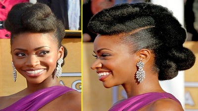 Get the Look: Teyonah Parris's Natural Hair Updo
