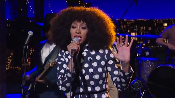 Must-See: Solange Performs 'Don't Let Me Down' on 'Letterman'