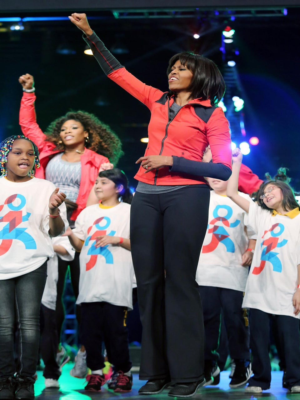 Michelle Obama Leads 6,000 Kids in Workout Routine