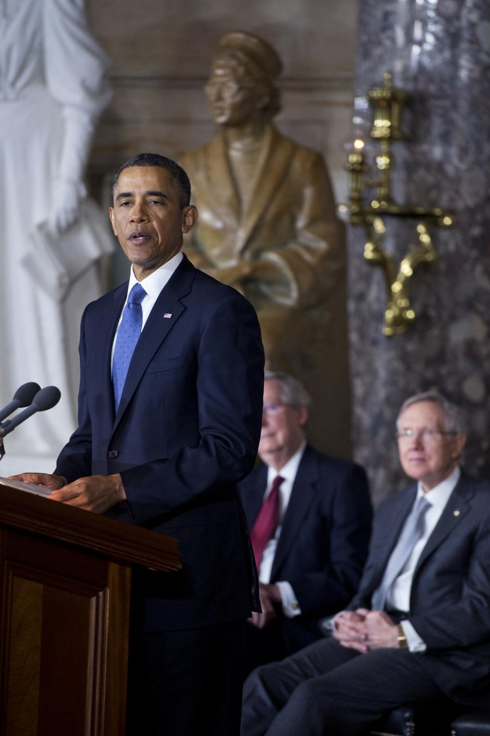 Coffee Talk: President Obama Unveils Rosa Parks Statue