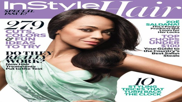 Go Behind the Scenes of Zoe Saldana's 'InStyle Hair' Cover Shoot