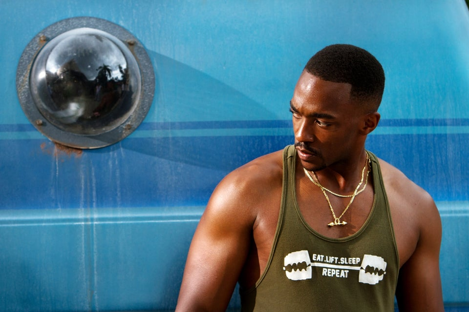 EXCLUSIVE: Anthony Mackie Talks Muscles and Action in 'Pain & Gain'