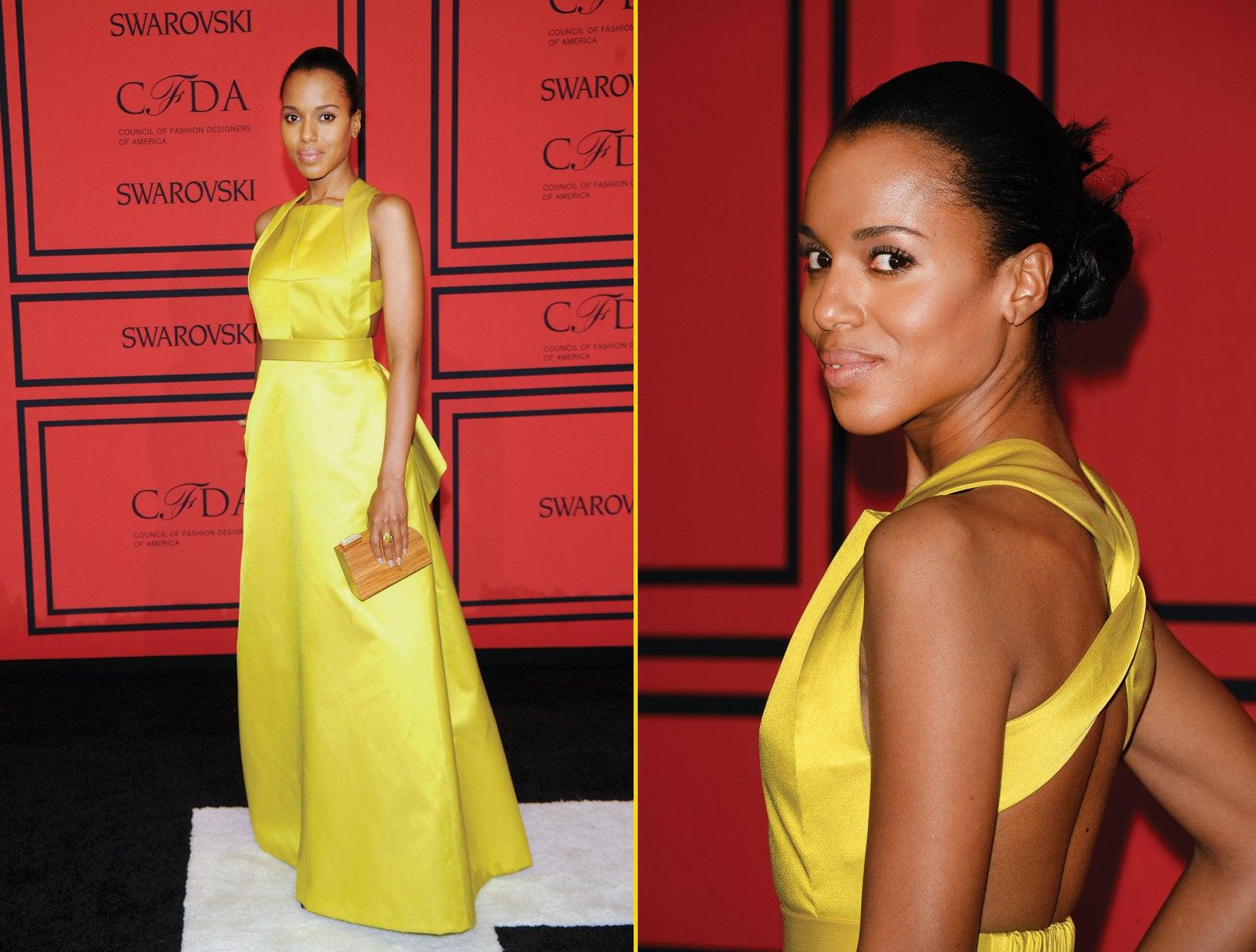 Get the Look: Kerry Washington's Glowing Makeup at the CFDA Awards