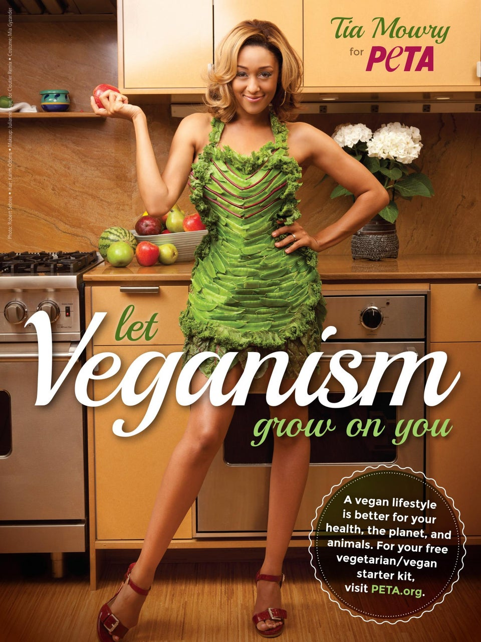 Tia Mowry Poses for PETA, Promotes Veganism