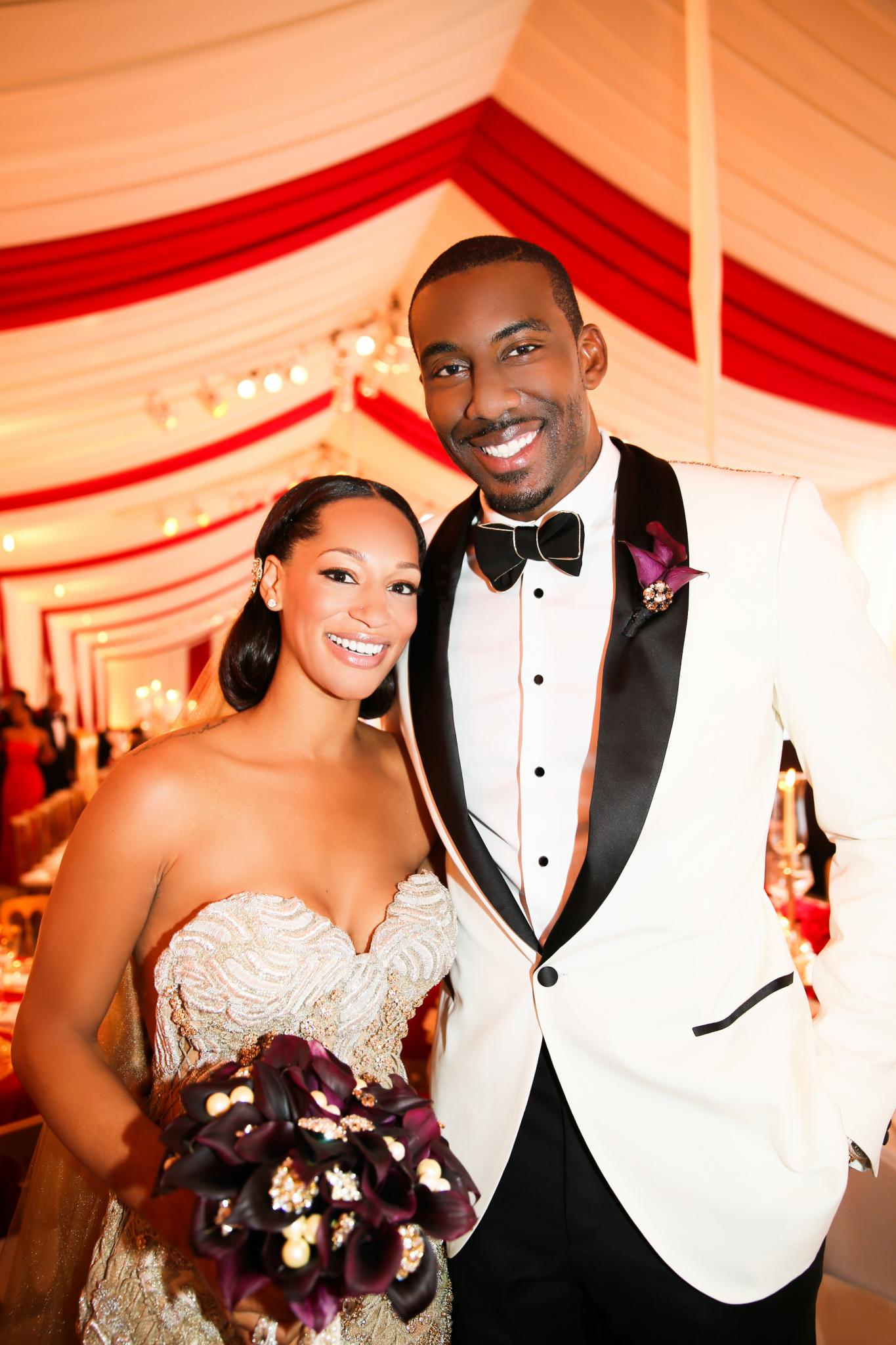 EXCLUSIVE: Amar'e Stoudemire and Alexis Welch's First Wedding Photo