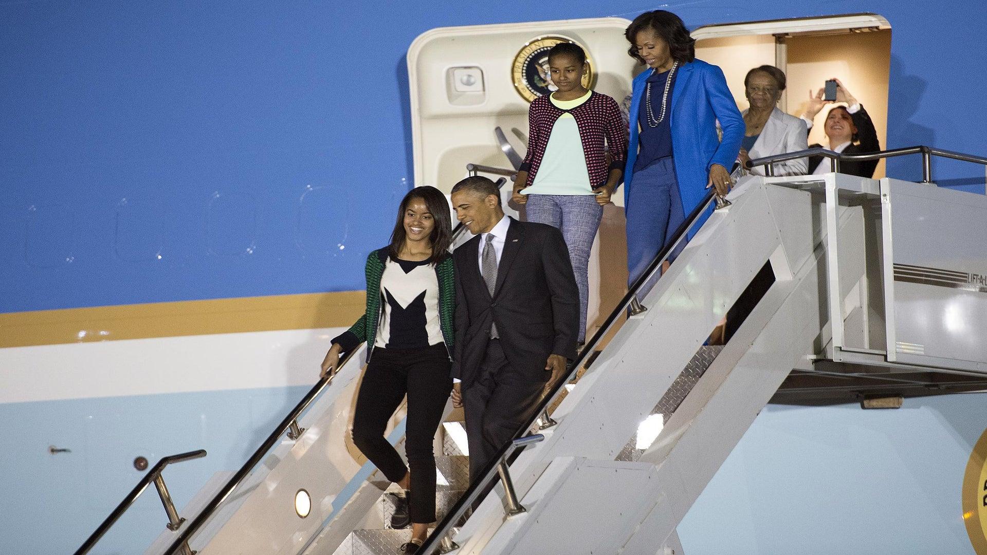 Malia and Sasha Obama Get Briefed Before International Trips