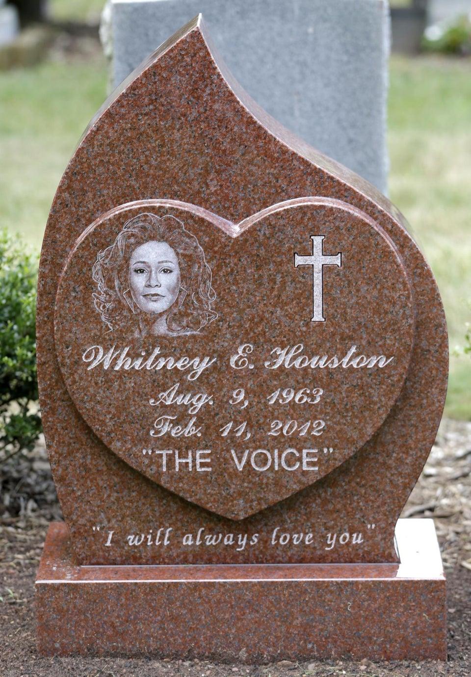 Whitney Houston's Headstone Revealed