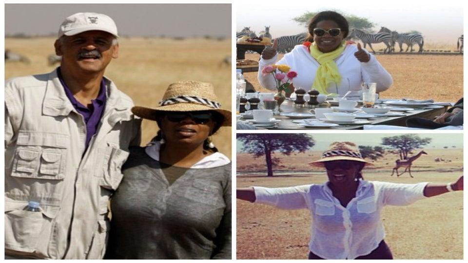 Photo Fab: Oprah Goes on Safari in the Serengeti