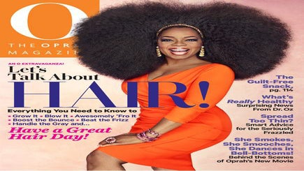 Oprah Shows Off A 3.5 Pound Wig On O! Magazine Cover
