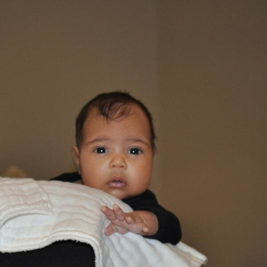 Aww! See the First Photo of Kanye West's Daughter North