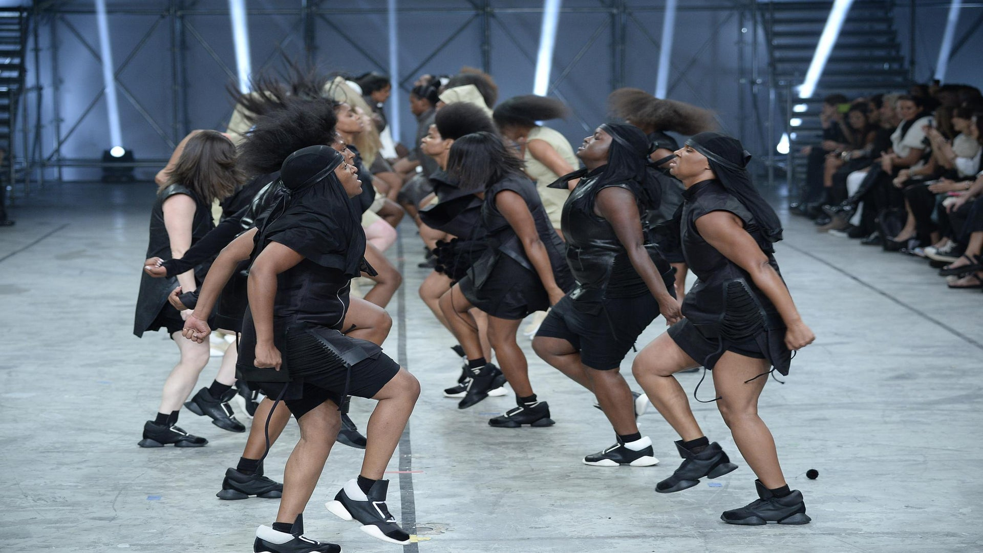 Must-See: Rick Owens Runway Show Uses Black Steppers
