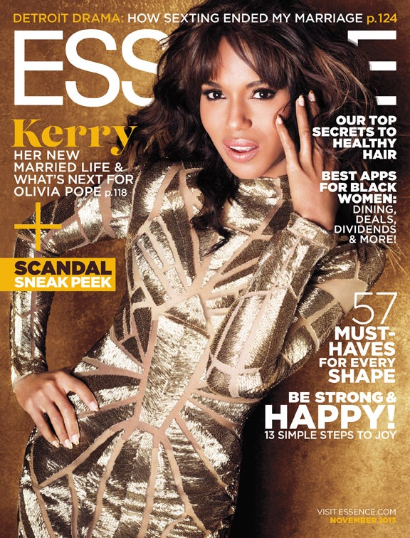 Kerry Washington Shines on November's ESSENCE Cover