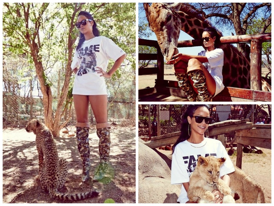 Photo Fab: Rihanna Goes to the Zoo in South Africa