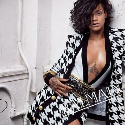 Rihanna Graces Balmain Spring Ad Campaigns