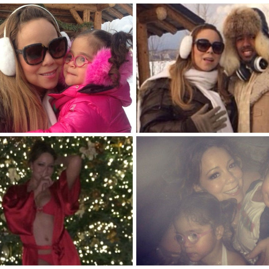Photo Fab: Mariah Carey and Family Spend Christmas in Aspen