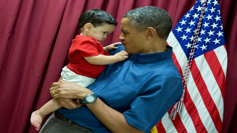 Photo Fab: President Obama and Baby Share Adorable Moment