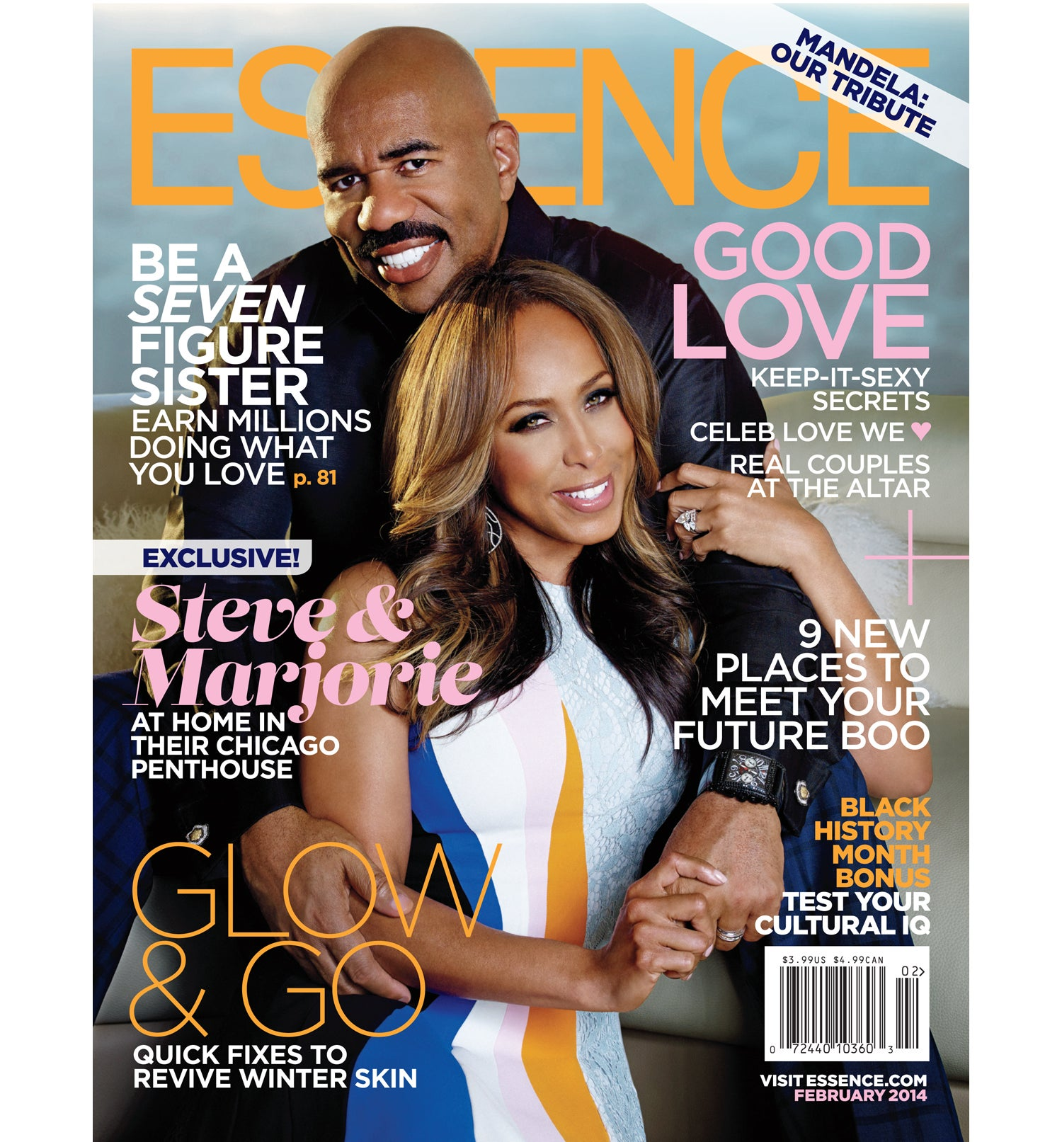 Steve and Marjorie Harvey Share the Love in February Cover of ESSENCE