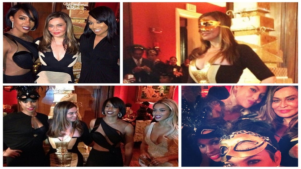 Photo Fab: Tina Knowles Celebrates 60th Birthday with Masquerade Ball