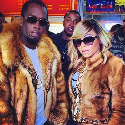 Photo Fab: Diddy and Ashanti Grab Burgers Post Super Bowl