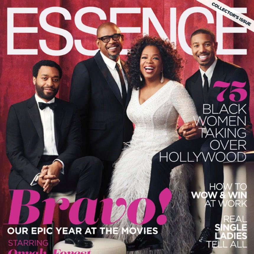Oprah Winfrey, Chiwetel Ejiofor, Forest Whitaker, Michael B. Jordan Cover ESSENCE's Hollywood Issue