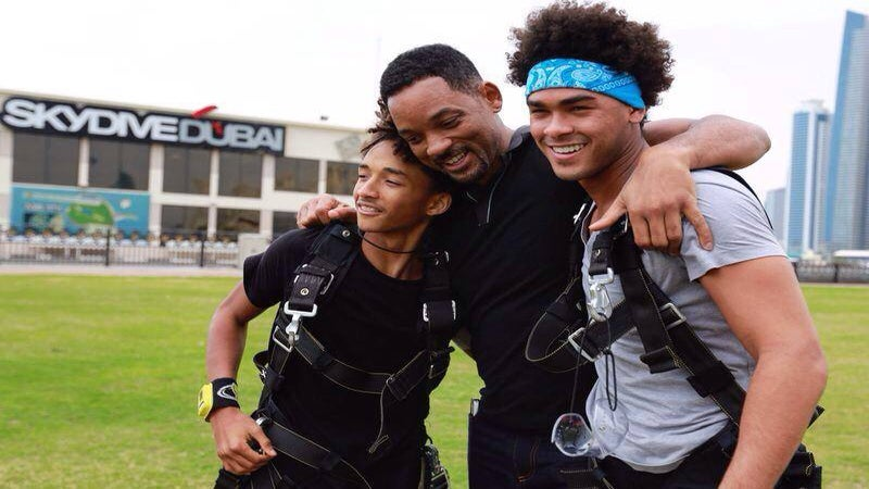 Will Smith Takes Sons Skydiving in Dubai