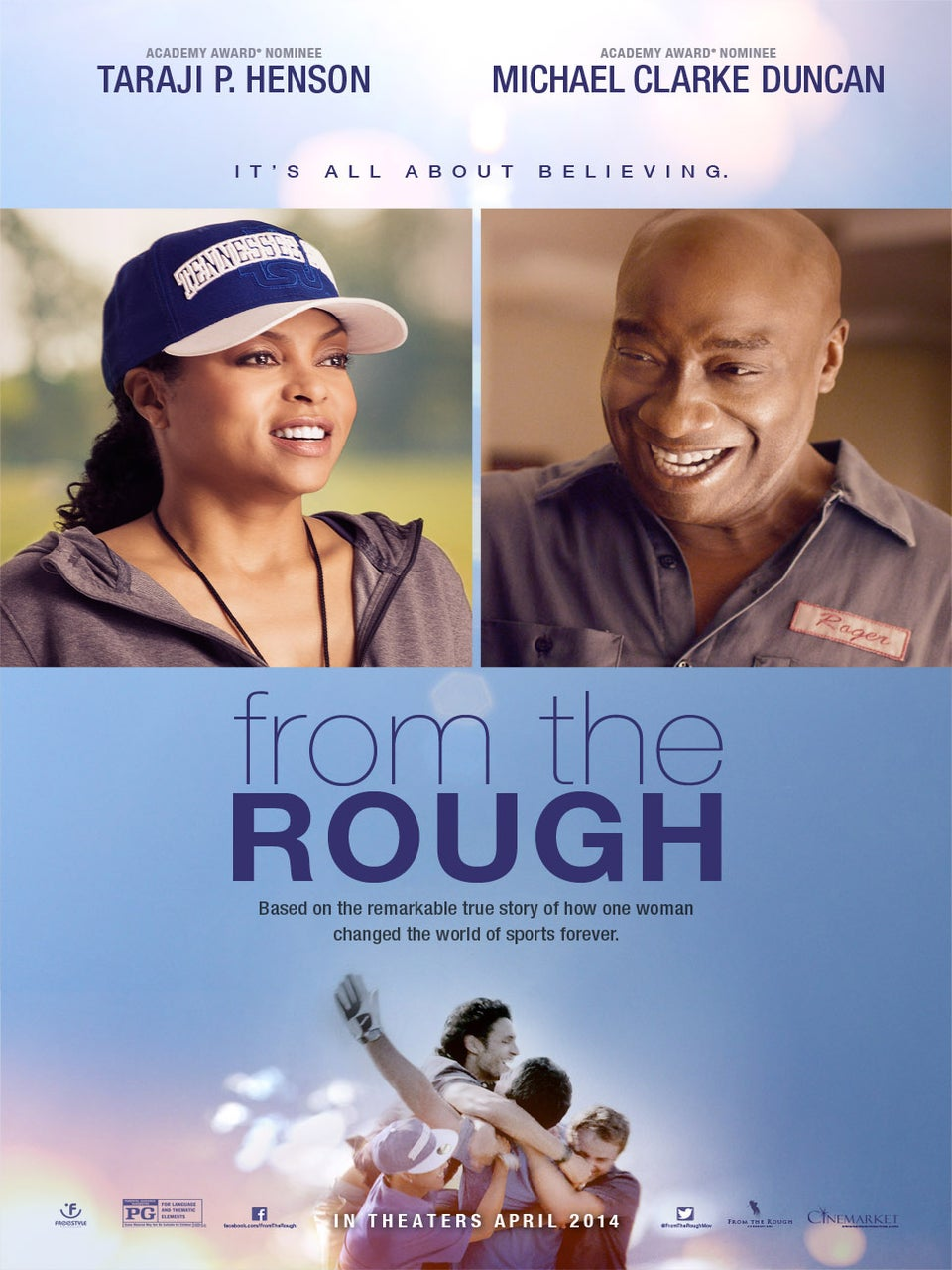 Poster Reveal: See Taraji P. Henson and the Late Michael Clarke Duncan in 'From the Rough'