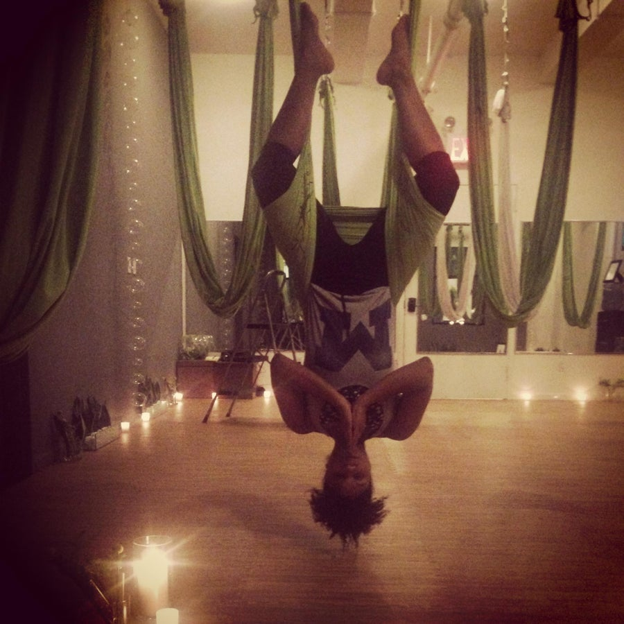 Hang Time: Trying Out Aerial Yoga