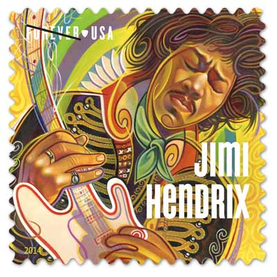 Jimi Hendrix and Ray Charles Get USPS Postage Stamps