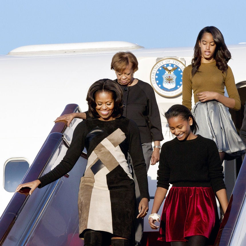 First Lady Michelle Obama and Daughters Kick Off Visit to China