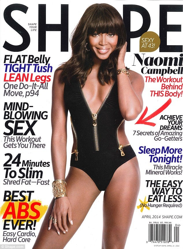 Naomi Campbell Covers Shape Magazine (And Shares Her Anti-Aging Secrets)