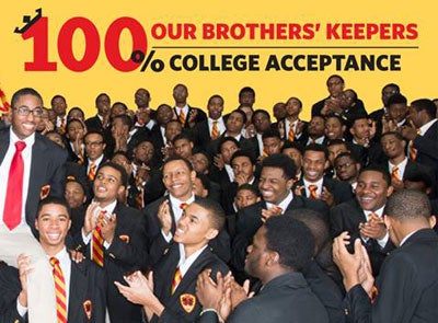 Chicago Urban Prep Achieves 100 Percent College Acceptance, 5th Year in a Row