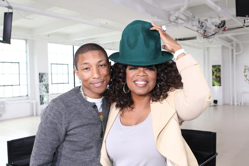 Here's Why Pharrell Cried Talking to Oprah About 'Happy'