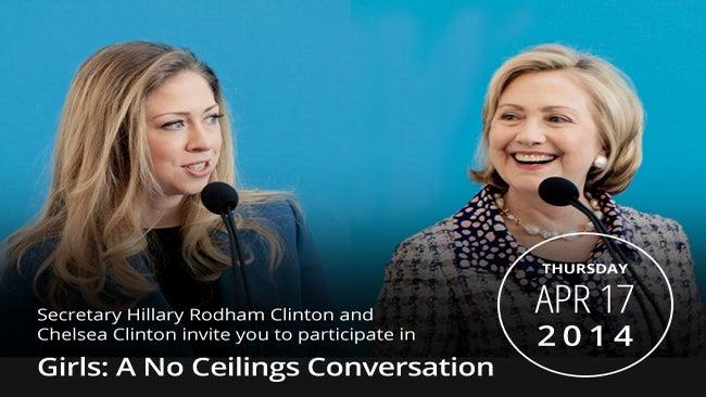 Join Hillary Clinton & Chelsea Clinton via Live Stream