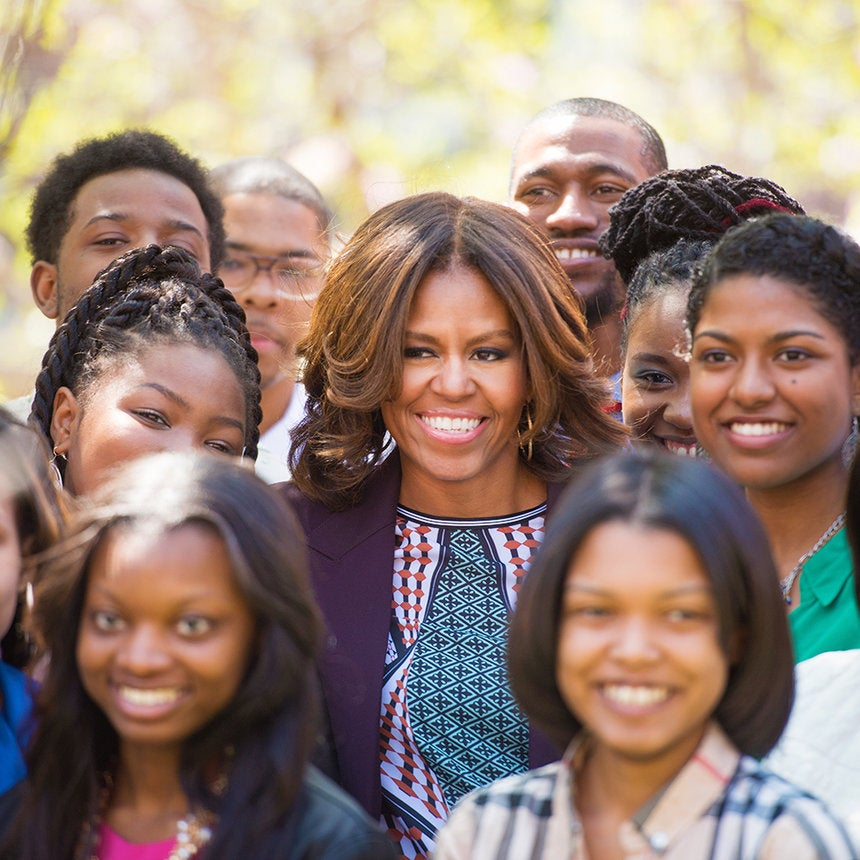 Michelle Obama Surprises Howard Students During College Tour