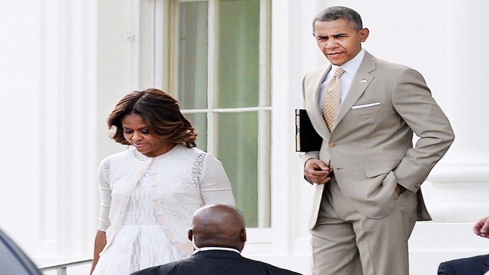 The First Family Celebrates Easter Sunday At Nineteenth Street Baptist Church