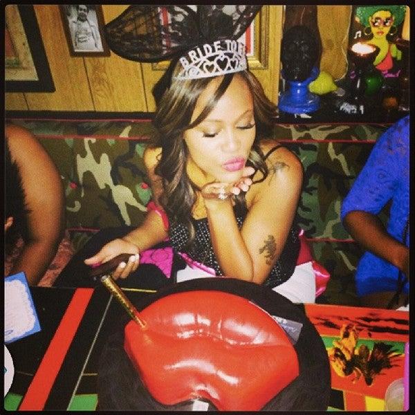 Photo Fab: Eve Celebrates Bachelorette Party in Style, Kisses Single Days Goodbye