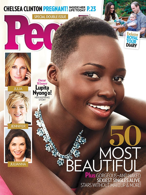 Lupita Nyong'o On Cover of PEOPLE Magazine's Most Beautiful Issue