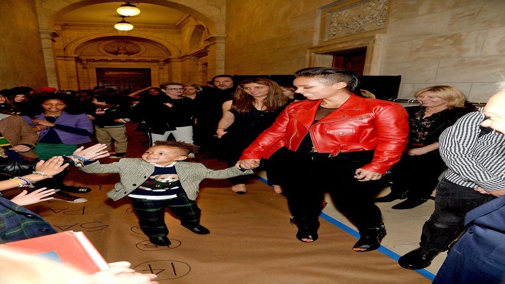 Photo Fab: Alicia Keys' Son Egypt Dean Walks in Ralph Lauren Runway Show