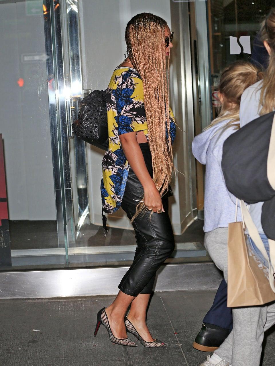 Beyoncé Spotted In Waist-Length Braids