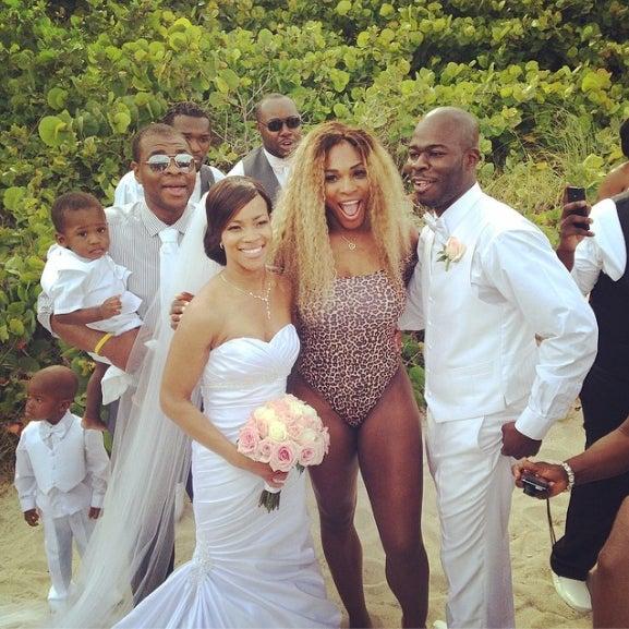 Photo Fab: Serena Williams Crashes Wedding in Swimsuit