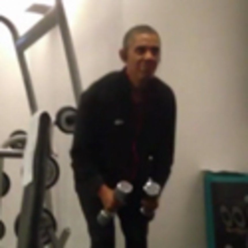 Must-See: President Obama's Gym Workout Caught on Camera