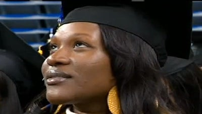Single Mother Graduates College with Three Degrees