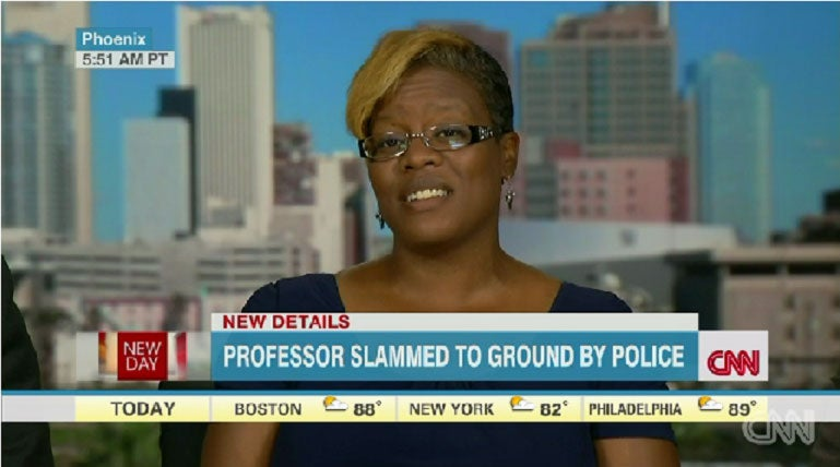 Shocking Video of Police Slamming Black Female Professor to the Ground Surfaces