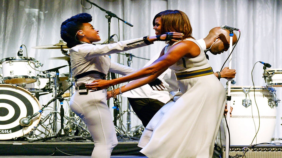 Coffee Talk: Michelle Obama Honors Janelle Monae at Grammy Luncheon