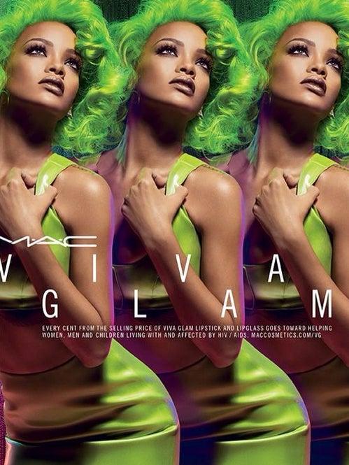 Rihanna Gleams in Green for New MAC Viva Glam Ad