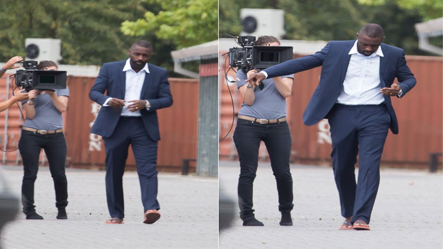 Idris Elba's Mystery Bulge Is Not What You Think It Is