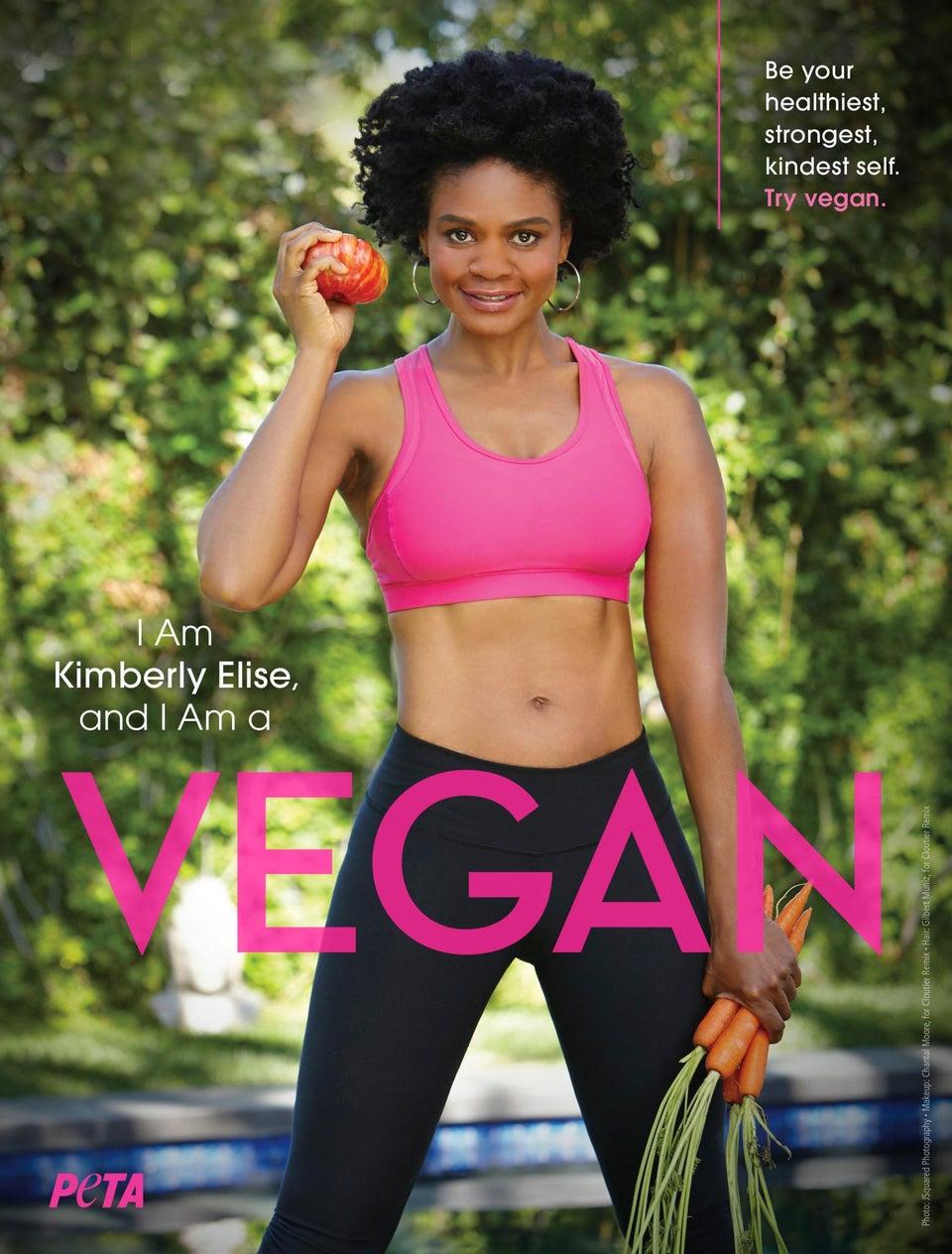Kimberly Elise Celebrates Her Vegan Lifestyle in New PETA Ad