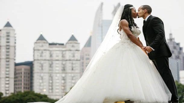 Bridal Bliss: O'Shea and Shawn's Piedmont Park Wedding In Atlanta
