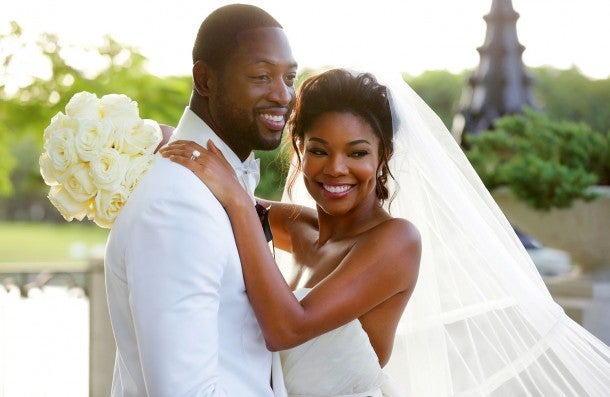 Image result for gabrielle union and dwyane wade wedding